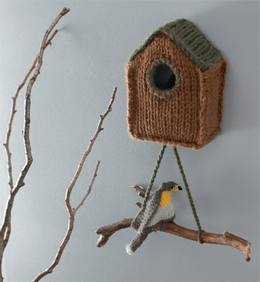 caseta de punt - knitted housebird